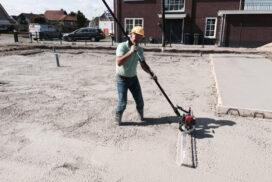 Betonvloer te Rijnsburg gestort