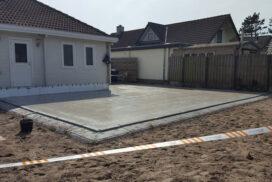 Hectar vloer aanbouw woonhuis