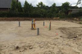 Zandbed gereed voor de Hectar® funderingsvloer.